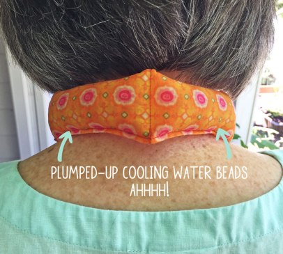 Water Bead Scarf to Make, keep your cool