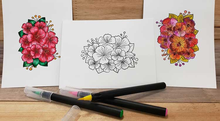Watercolor Brush Pen Demo @ Beaverton Location | Vancouver | Washington | United States