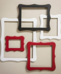 Whimsical Open Back Wall Frames