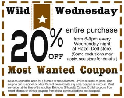 Wild Wednesday Coupon