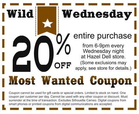 Wild Wednesday Craft Warehouse Hazel Dell Wa Location