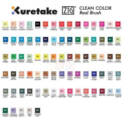 Zig Real Color Chart