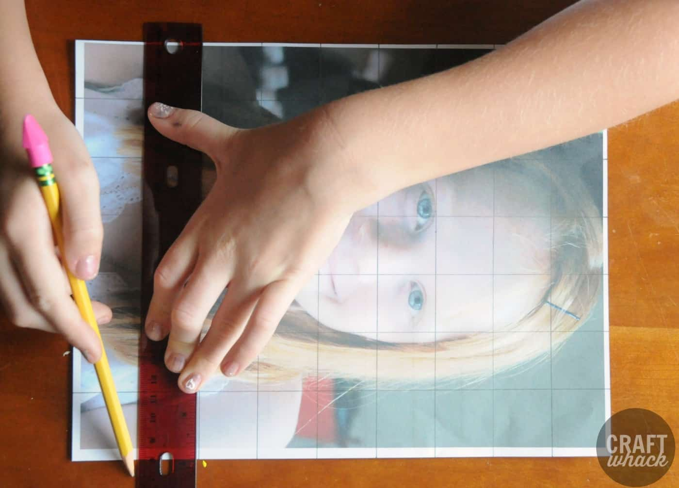 Grid Drawing Method With Kids Portraits Craftwhack