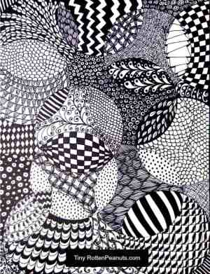 zentangle easy drawing idea totally craftwhack cool patterns draw zentangles drawings projects teens teenagers crafts project arts zen adults fun