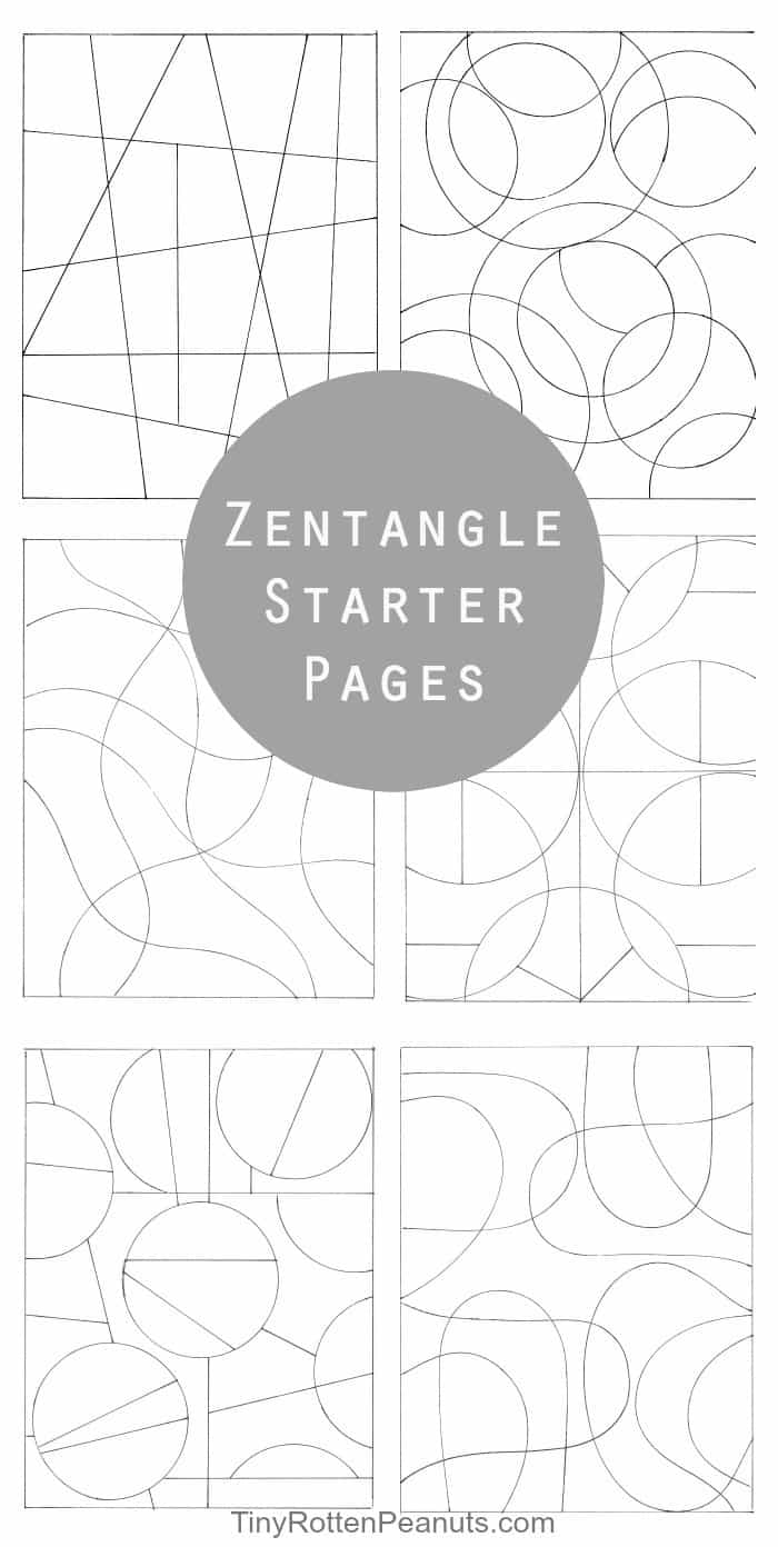 Inspired By Zentangle Patterns and Starter Pages · Craftwhack