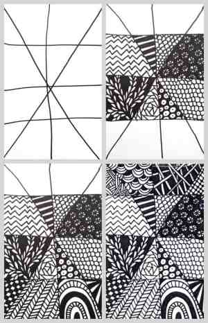 zentangle easy drawing draw quick tangle zentangles patterns doodle project craftwhack drawings projects zen super paper things creative marker line