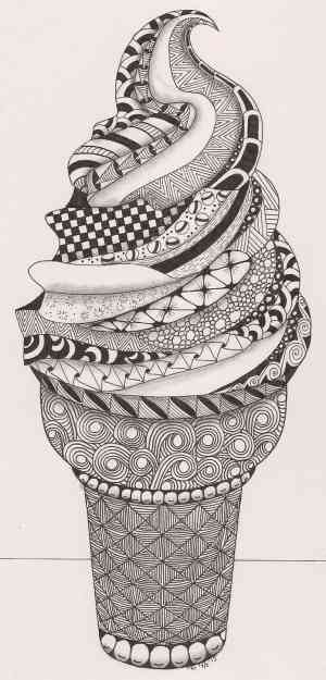 zentangle ice cream tangle adri easy cool zentangles patterns coloring simple designs doodle drawing pattern really doodles person zen hand
