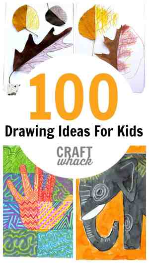 drawing cool crazy drawings craftwhack pencil easy fun really colour draw simple teenagers creative coloring