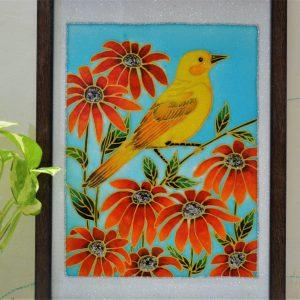 Bird and flower