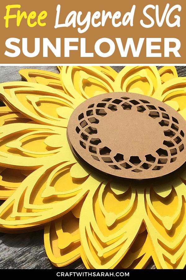 Layered Svg Free : layered, Sunflower, Layered, Craft, Sarah