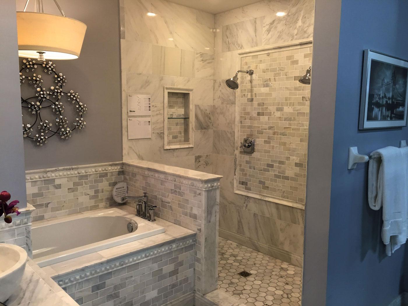 custom tile bathroom remodel