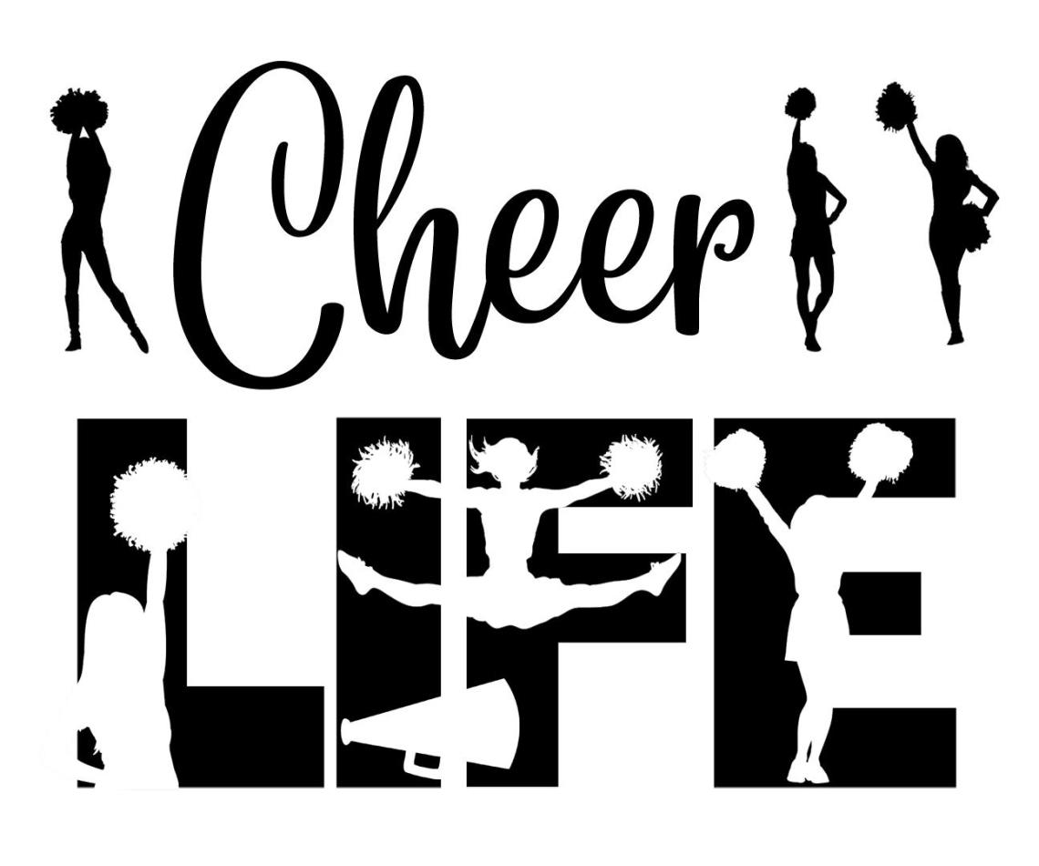 Download Free Cheer Life SVG File in 2020 | Cheer, Svg, Svg file