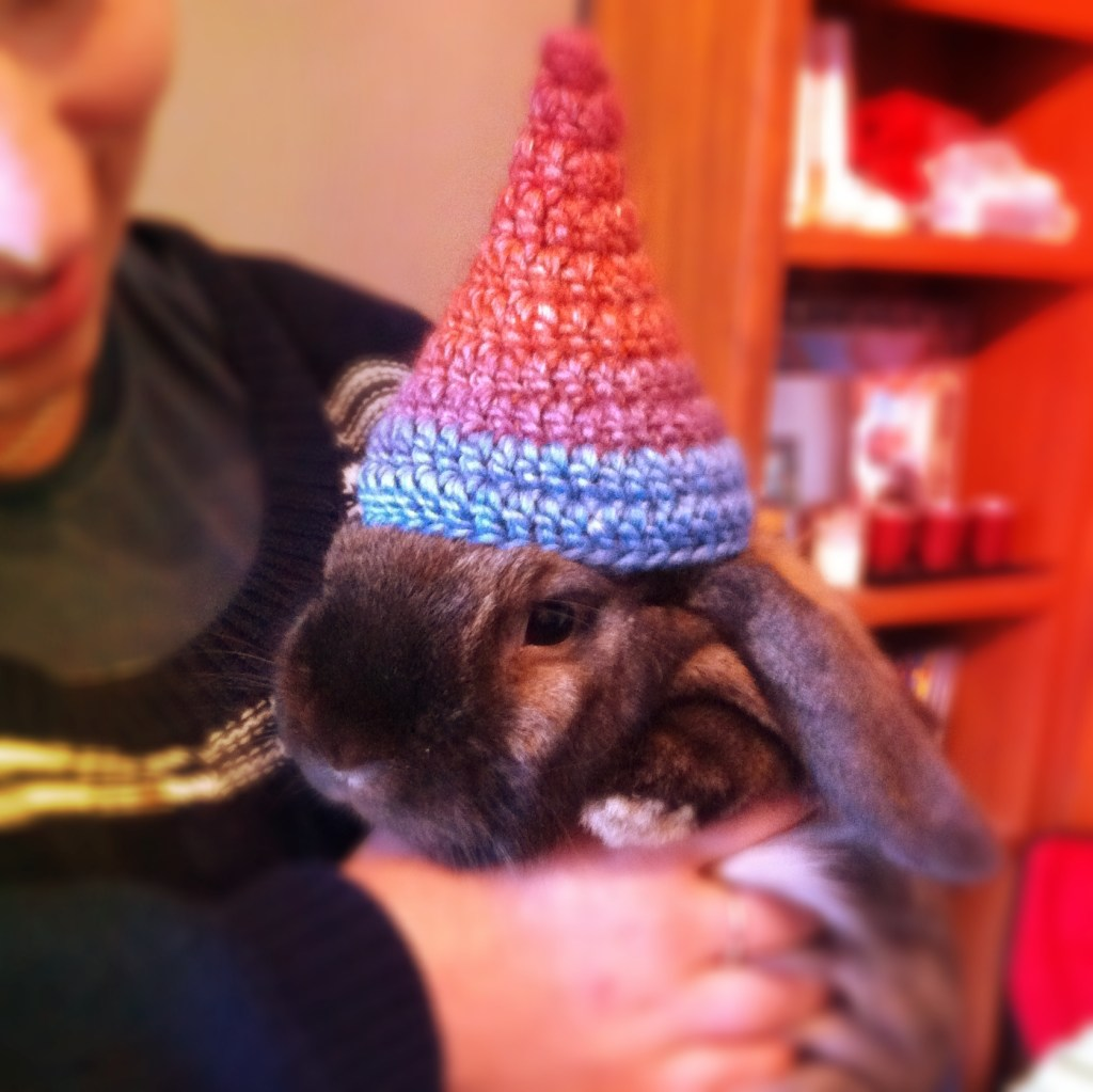 rainbow cone birthday hat