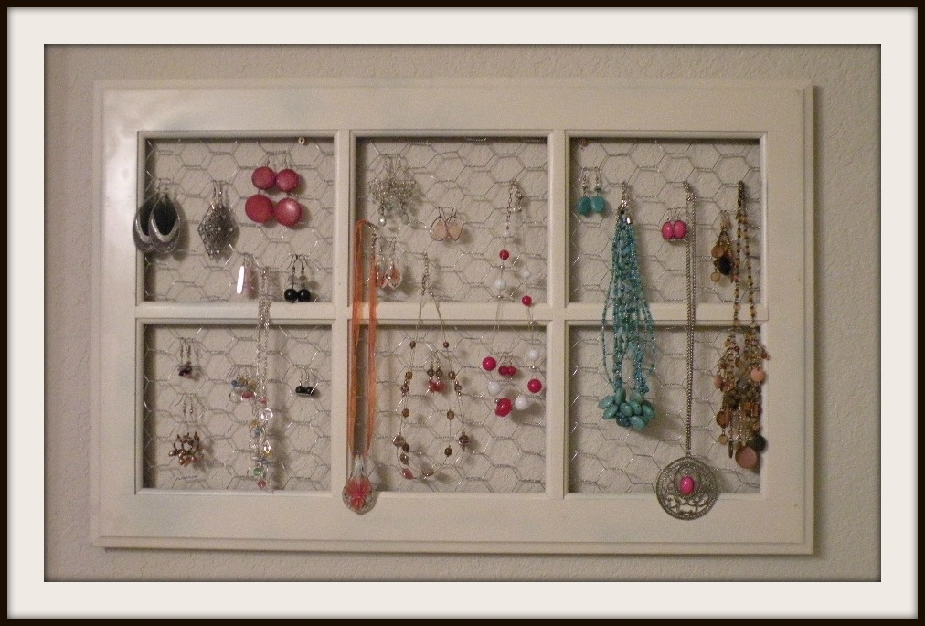 DIY: Jewelry holder! This is a great idea! This is made