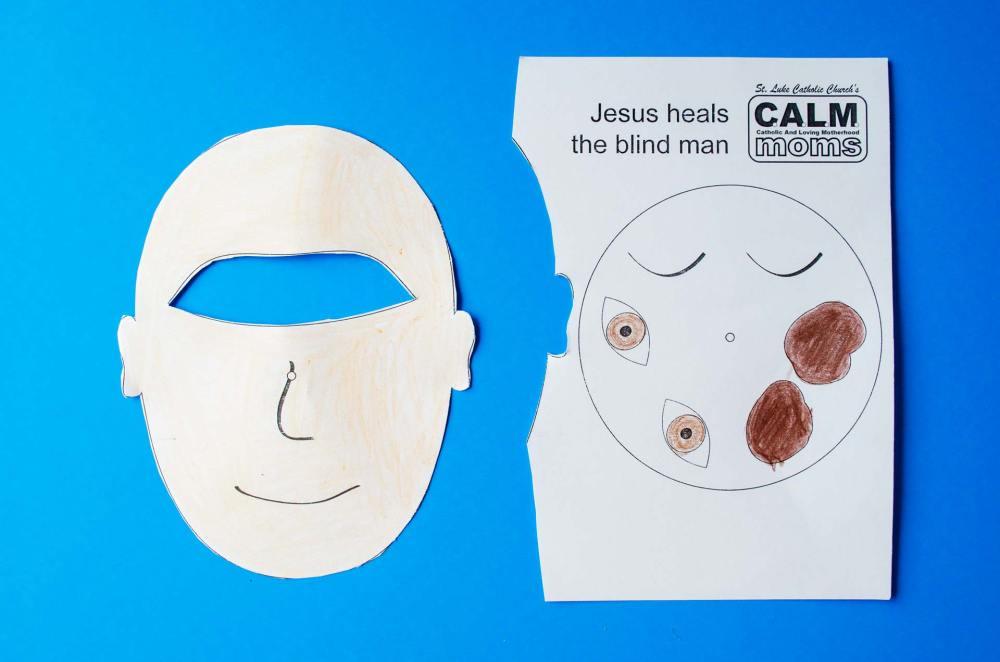 medium resolution of Jesus Heals a Blind Man Craft - Crafty Catholic Moms
