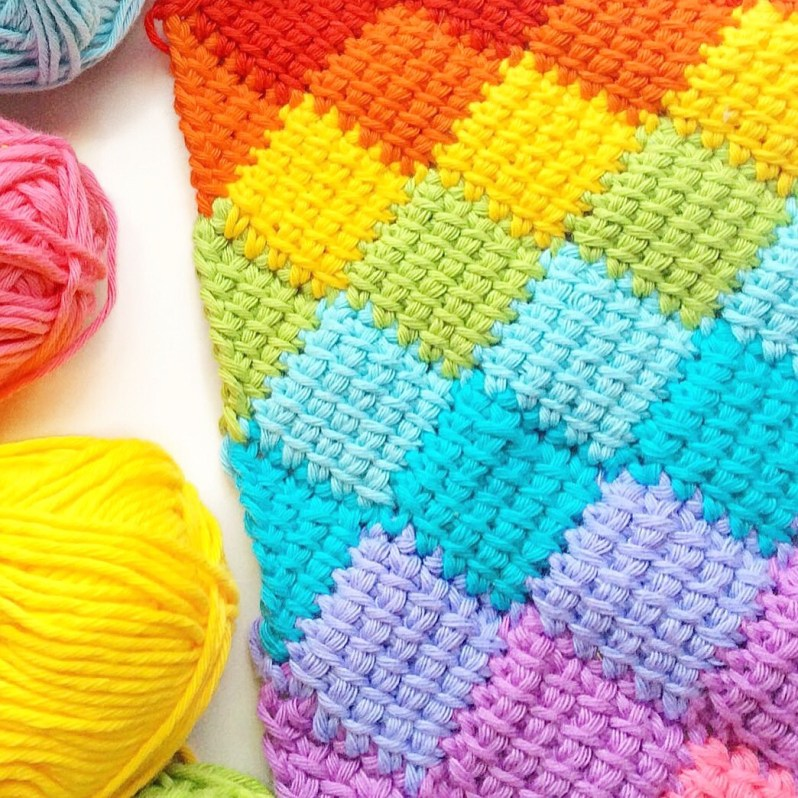 5 rainbow colourways to use in your next crochet project! - Crafty CC