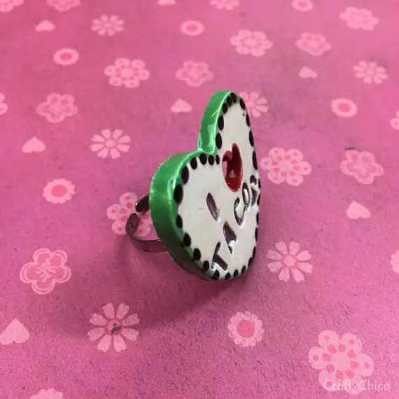 I Heart Tacos ring by Crafty Chica