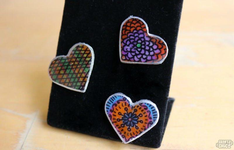 Shrink plastic pins