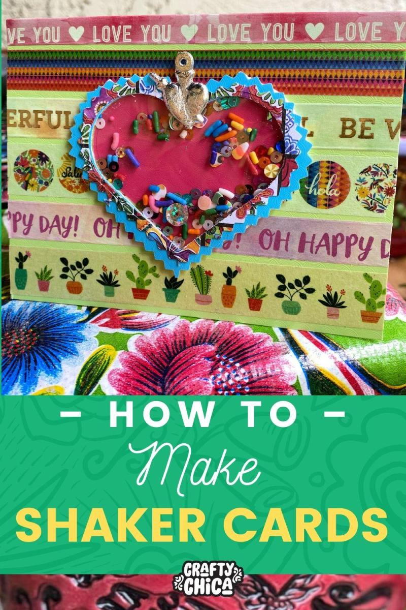 Easy shaker card tutorial for beginners! #craftychica #shakercardstutorial