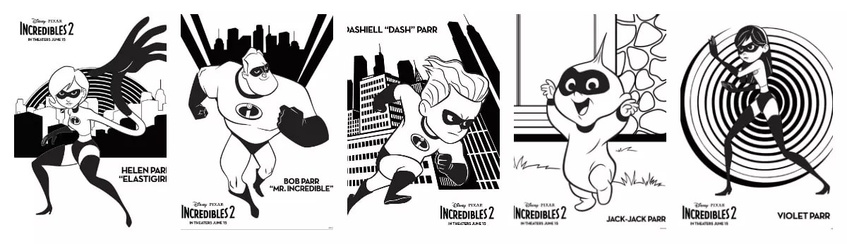 Incredibles 2 Crafts Printables Recipes Coloring Pages