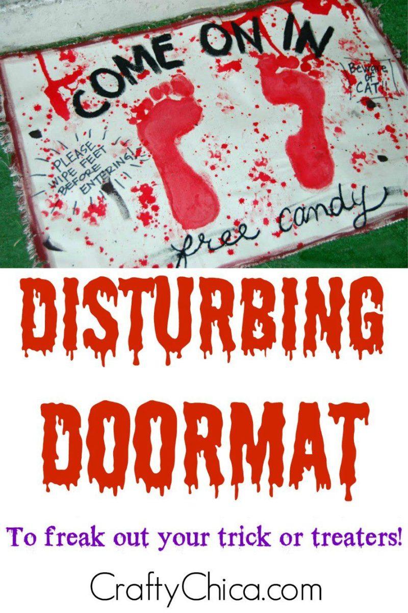 disturbing doormat-diy