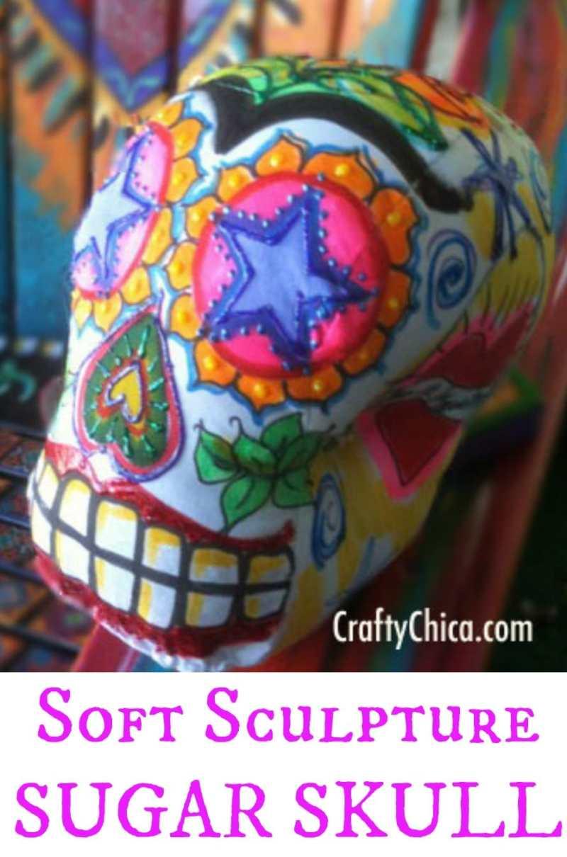 Soft Sculpture Skull, CraftyChica.com