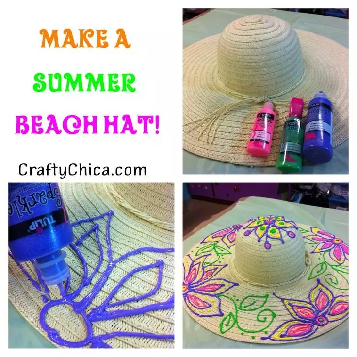 Summer Beach Hat DIY