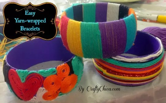 yarn-wrapped-bracelets