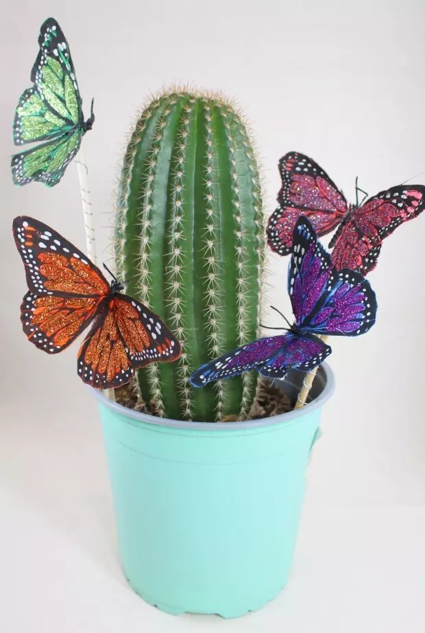Butterfly Plant Pokes by Kathy Cano-Murillo of CraftyChica.com.