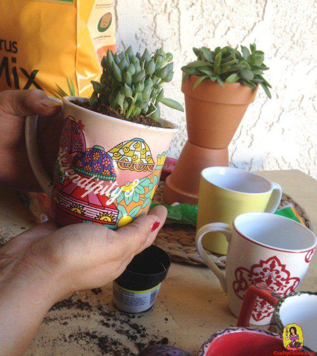 Coffee mug planters