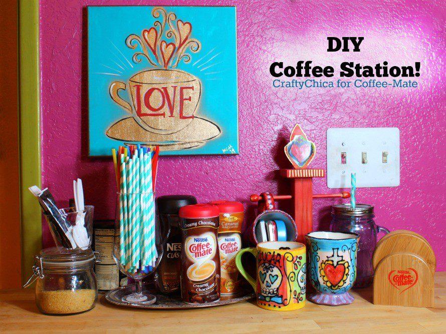 DIY Coffee Station by CraftyChica.com.
