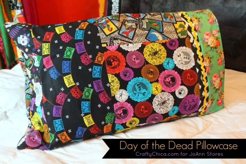 DIy Day of the Dead pillowcases