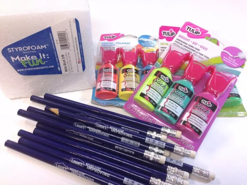 Puffy paint pencils by CraftyChica.com.