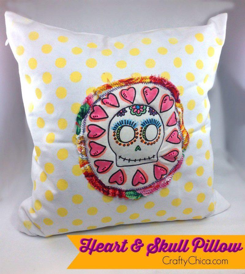 heart-skull-pillow