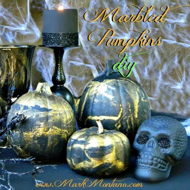 Marbled pumpkins by Mark Montano.