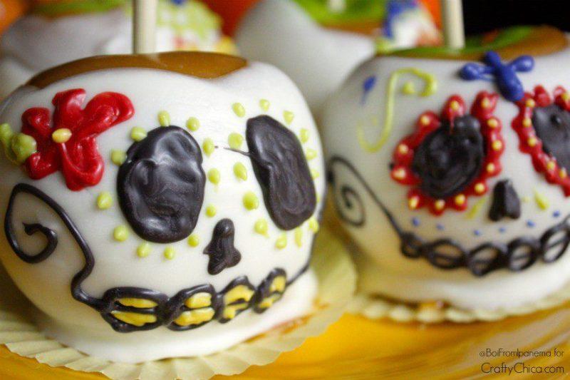 Sugar Skull candy apples