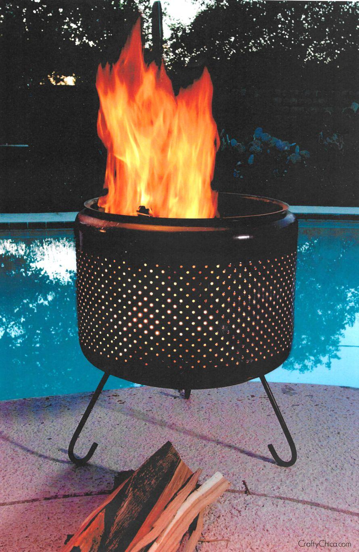 Diy Smokeless Fire Pit From Washing Machine Drum : smokeless, washing, machine, Washing, Machine, Crafty, Chica
