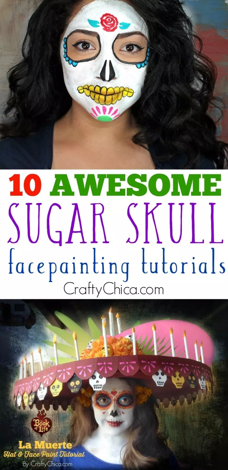 sugar skull facepainting