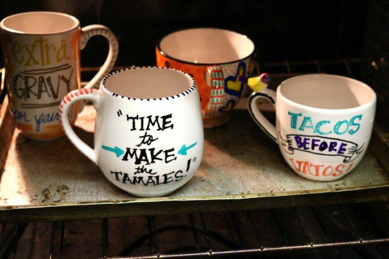 mugs-oven