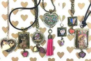 Resin jewelry DIY by CraftyChica.