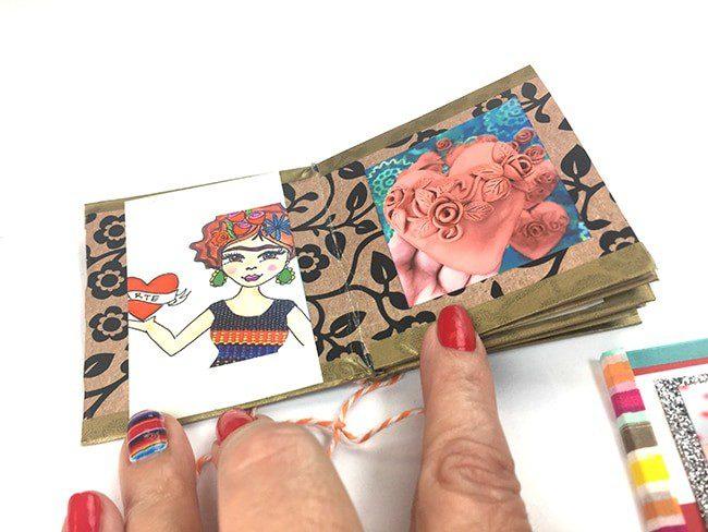 Make a mini book from a sheet of scrapbook paper, CraftyChica.com