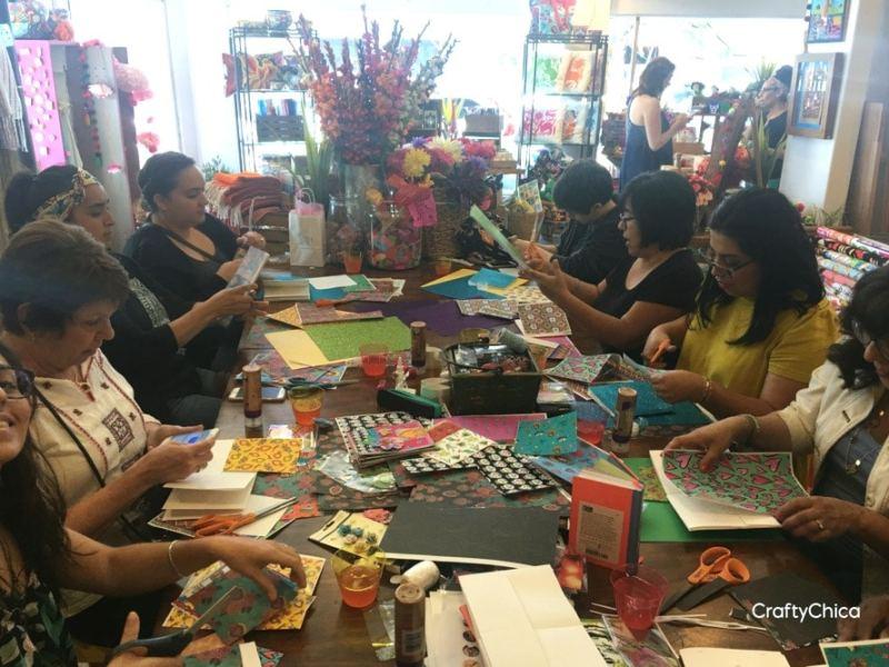 Crafty Chica workshop at Artelexia.