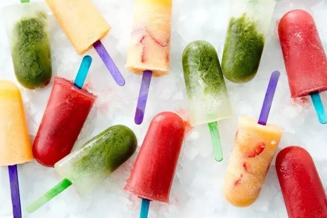Healthy Ginger-Cantaloupe Popsicle