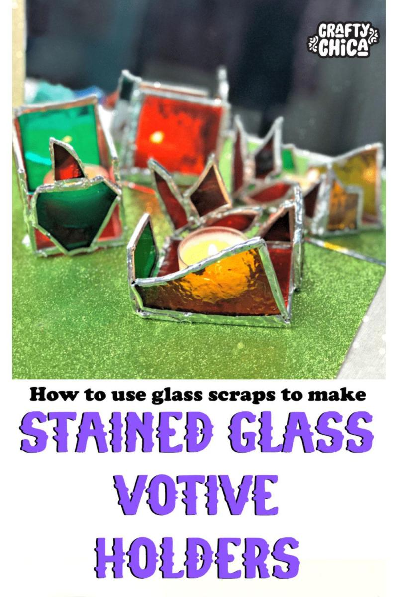 Use glass scraps to make soldered votives! #craftychica