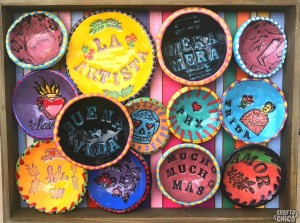 Stamped Clay Bowls, The Crafty Chica.