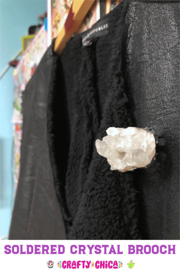 soldered quartz brooch