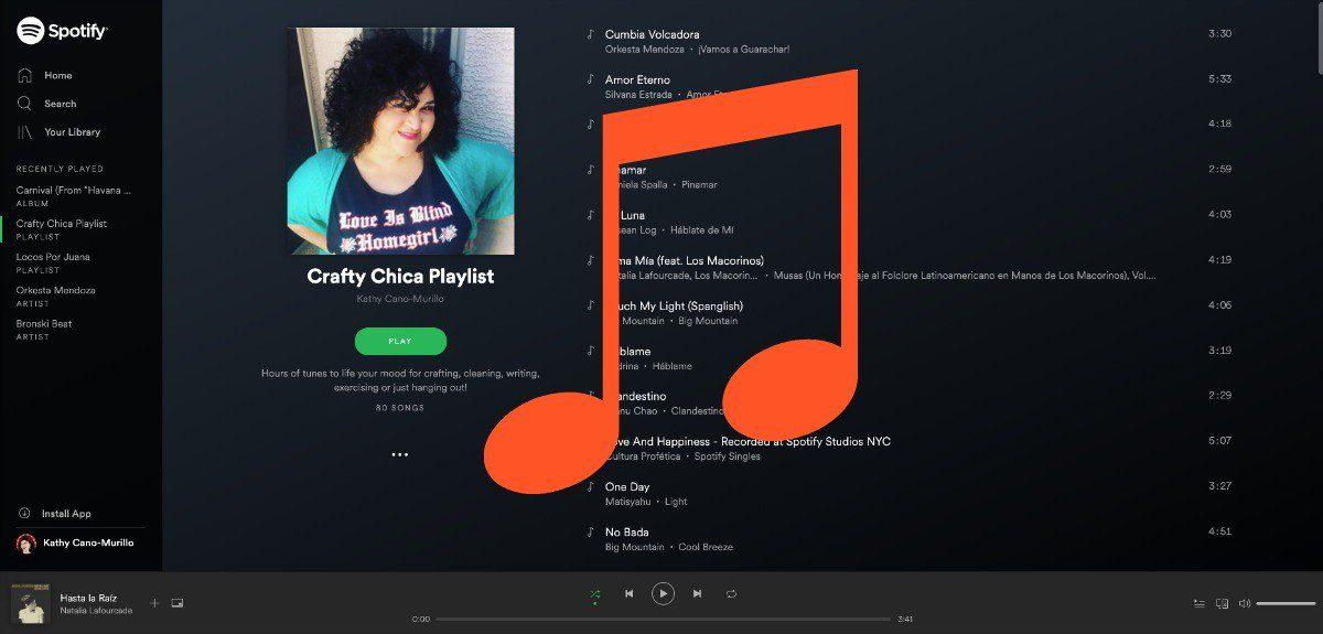 Crafty Chica spotify playlist!