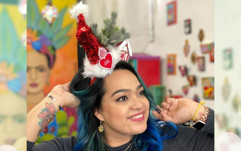 DIY Holiday Headbands #craftychica #holidiyheadbands #holidaycraft