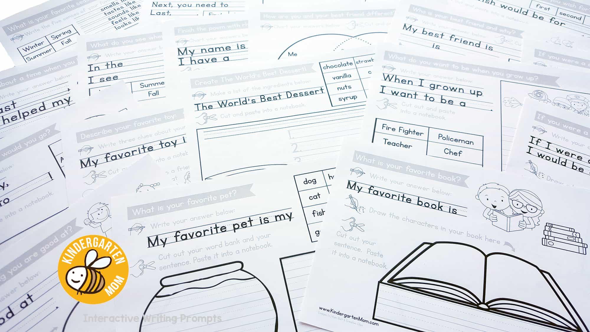 Write Kindergarten Writing Prompts