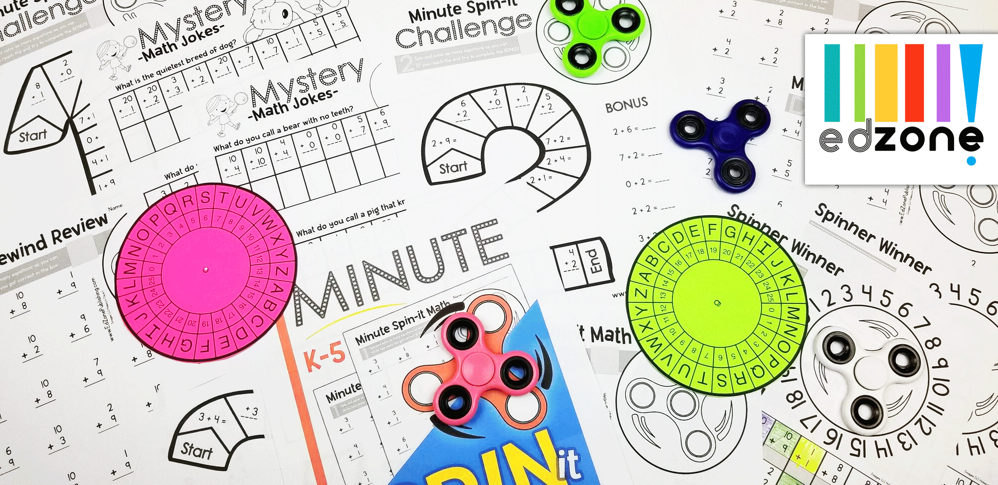 Minute Spin It Math Drills Addition